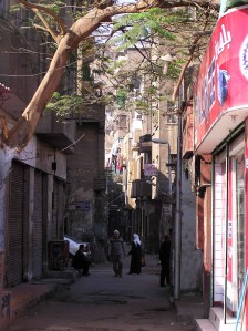 Narrow street in old Cairo